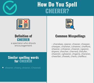 Correct spelling for cheerer