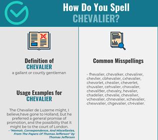 Correct spelling for chevalier