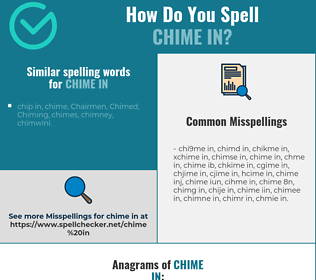 Correct spelling for chime in