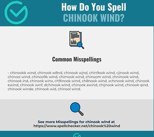 Correct spelling for Chinook Wind