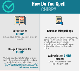 Correct spelling for chirp