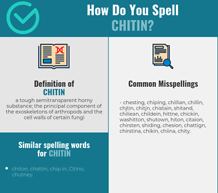 Correct spelling for chitin