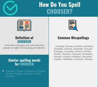 Correct spelling for chooser