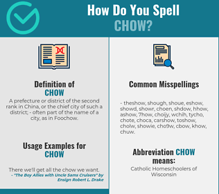 Correct spelling for chow