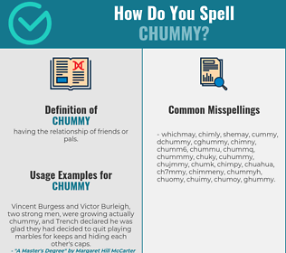 Correct spelling for chummy