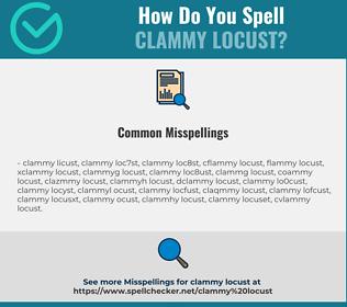 Correct spelling for clammy locust