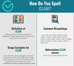Correct spelling for claw
