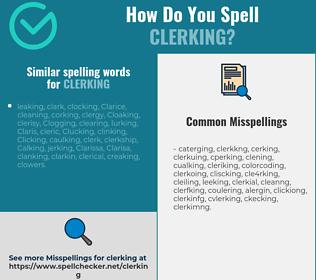 Correct spelling for clerking