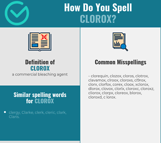 Correct spelling for clorox