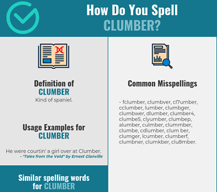 Correct spelling for clumber