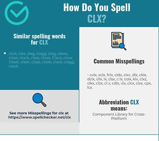 Correct spelling for clx