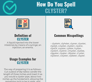 Correct spelling for clyster