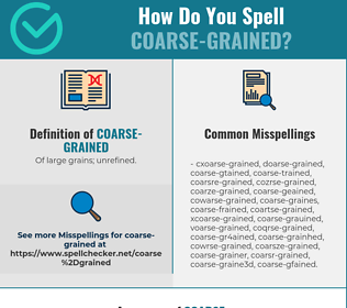 Correct spelling for coarse-grained
