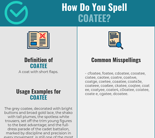 Correct spelling for coatee