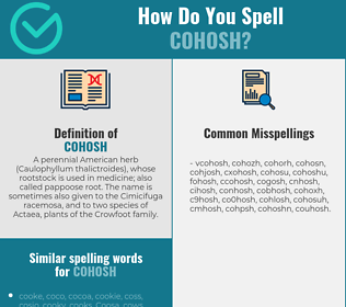 Correct spelling for cohosh