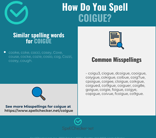 Correct spelling for coigue