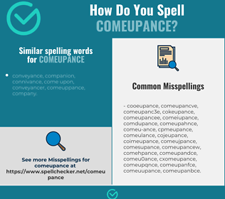 Correct spelling for comeupance