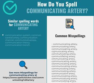 Correct spelling for communicating artery