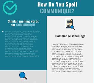 Correct spelling for communique