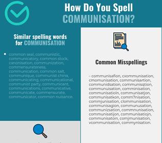 Correct spelling for communisation
