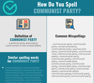 Correct spelling for communist party