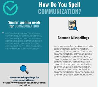 Correct spelling for communization