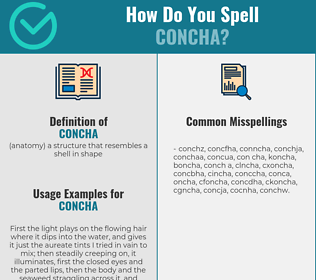 Correct spelling for concha