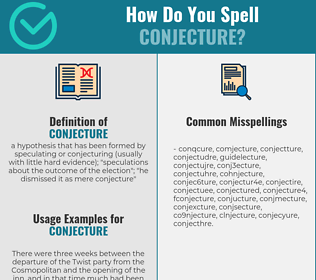 Correct spelling for conjecture