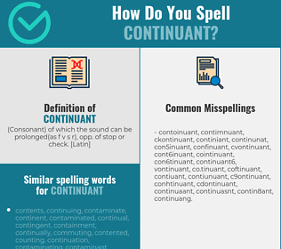 Correct spelling for continuant