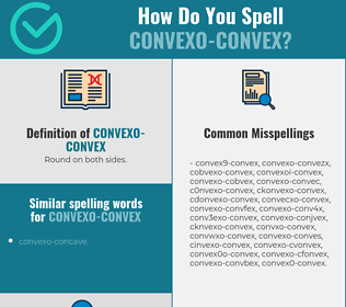 Correct spelling for convexo-convex
