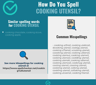 Correct spelling for cooking utensil