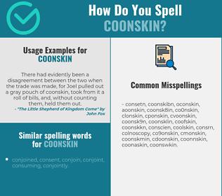Correct spelling for coonskin