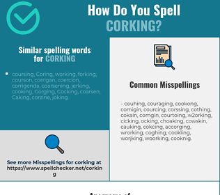 Correct spelling for corking