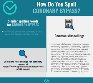 Correct spelling for coronary bypass