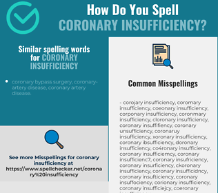 Correct spelling for coronary insufficiency