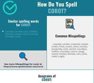 Correct spelling for corot