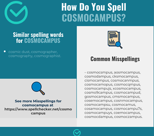 Correct spelling for cosmocampus