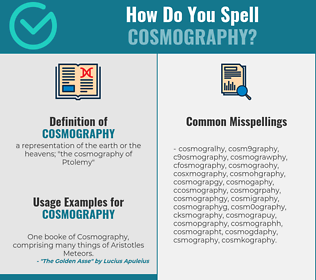 Correct spelling for cosmography