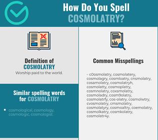 Correct spelling for cosmolatry