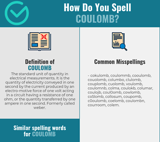 Correct spelling for coulomb