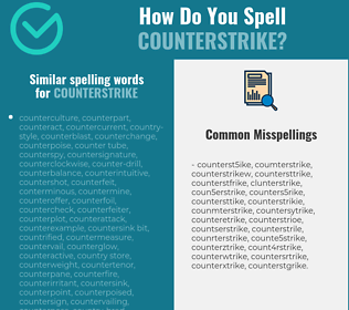 Correct spelling for counterstrike