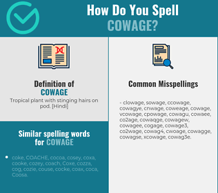 Correct spelling for cowage