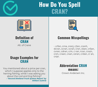 Correct spelling for cran