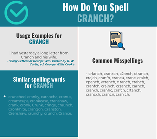 Correct spelling for cranch