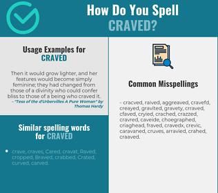 Correct spelling for craved