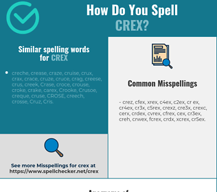 Correct spelling for crex