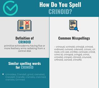 Correct spelling for crinoid