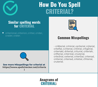 Correct spelling for criterial