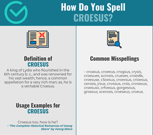 Correct spelling for croesus