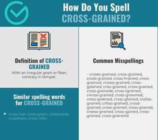 Correct spelling for cross-grained